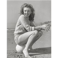 ANDRE DE DIENES (American, 1913-1985). Marilyn Monroe (Tobey Beach), 1945.