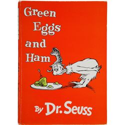 Dr. Seuss. Green Eggs and Ham. First London edition vintage book.