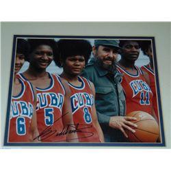 Cuban Basketball Photo Signed Fidel Castro