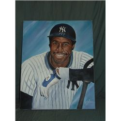 Dave Winfield Autographed Painting by Robert Simon