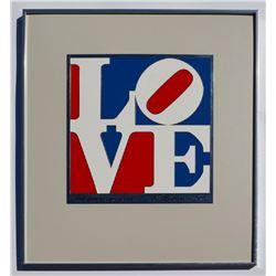 Robert Indiana American Love Enamel on Aluminum