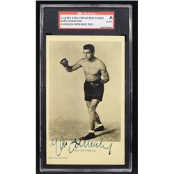 Max Schmeling signed.
