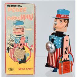 JAPAN Tin Windup PEACE CORPS MAN w/ith box.