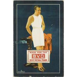 1926 BVD Underwear Cardboard Sign.