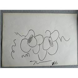 JEFF KOONS flowers sketch 2017 (1955-).