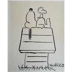 Original Charles Schulz drawing.
