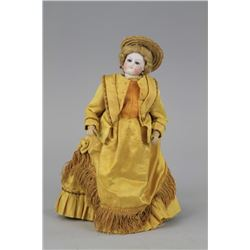 1870's ERA FRENCH FASHION DOLL WITH WOODEN BODY