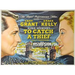 To Catch A Thief (1955) British quad film poster.