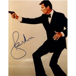 ROGER MOORE (JAMES BOND) SIGNED PHOTO.