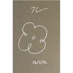 JEFF KOONS (1955-): FLOWER DRAWING.