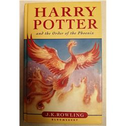 Harry Potter and the Order Of The Phoenix, JK Rowling (SIGNED). First edition.