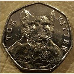 BRITISH: TOM KITTEN COIN.