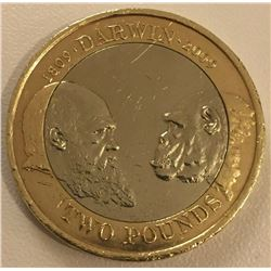 2009 Charles Darwin 200th Anniversary £2 Two Pound Coin/£2 William Shakepshere coin.