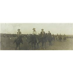 1885 Pine Ridge, cattle round-up cabinet photo.
