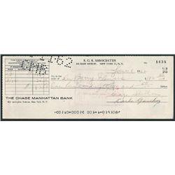 CARLO GAMBINO SIGNED CHEQUE.