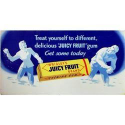 Wrigley's Juicy Fruit Gum advertising poster.