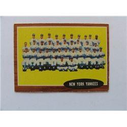 New York Yankees 1962 Topps Team Card