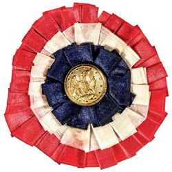 1863 Civil War Patriotic Union Ribbon Button.