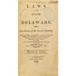 Run of Delaware laws, 1798-1805