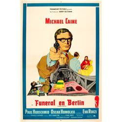 Funeral in Berlin Michael Caine poster.