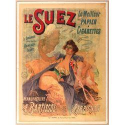Advertising Poster Cigarette Le Suez France