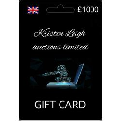 £1000 Kristen Leigh auctions limited gift card.