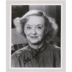 BETTE DAVIS SIGNED PHOTO.