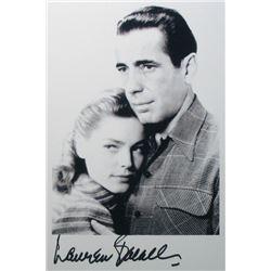 Lauren Bacall Signed photo