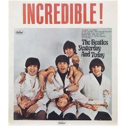 """THE BEATLES YESTERDAY AND TODAY """"BUTCHER COVER"""" POSTER"""