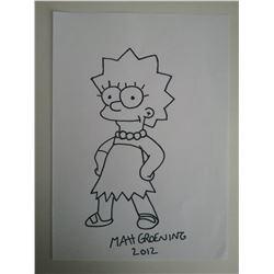 MATT GROENING - Lisa Simpson - The Simpsons.