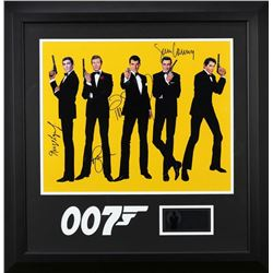 JAMES BOND SIGNED  BY MANY 007 AGENTS.