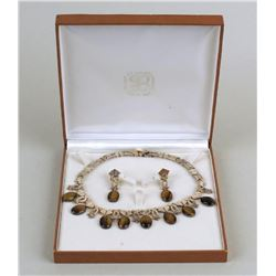 Mexican Los Ballesteros Sterling Necklace and Earrings