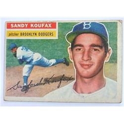 1956 Topps Sandy Koufax Baseball Card No 79