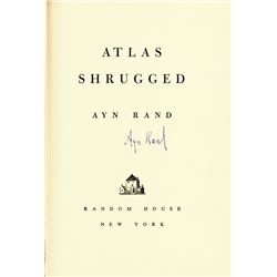 AYN RAND SIGNED BOOK: ATLAS SHRUGGED
