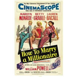 How to Marry a Millionaire (20th Century Fox, 1953). Poster.