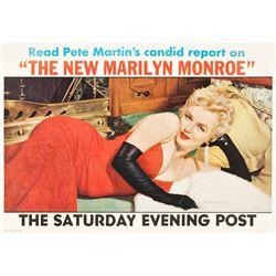 Marilyn Monroe Saturday Evening Post Magazine (Curtis Publishing, 1956). Newstand Poster.