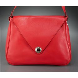 Rouge Hermes Christine shoulder bag.