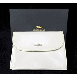 Longchamp white leather American 'wallet'