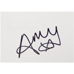 AMY WINEHOUSE SIGNED CARD.