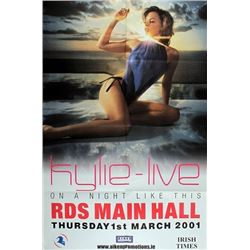 Kylie Minogue, On a Night Like This tour, Concert poster.