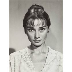 AUDREY HEPBURN SILVER GELATIN PHOTO.