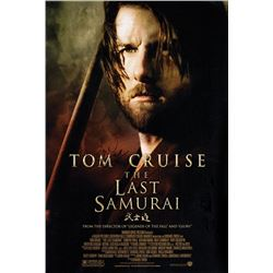 Tom Cruise signed The Last Samurai poster.
