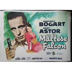 THE MALTESE FALCON REPRODUCTION POSTER.