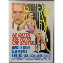 Cat On A Hot Tin Roof (R-1974) poster.