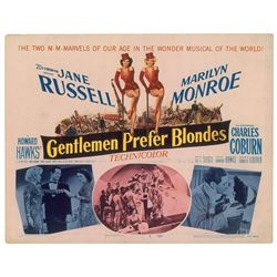 Marilyn Monroe 'Gentlemen Prefer Blondes' Title Lobby card.