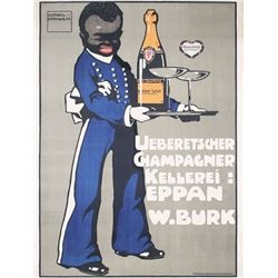 Ludwig Hohlwein Champagne Poster 1909