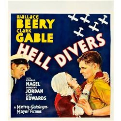 Hell Divers (MGM, 1932). Three-Quarter Sheet poster.