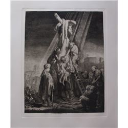 "The Descent From The Cross"" by Amand Durand etching."