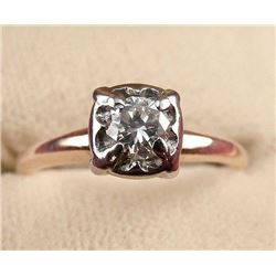 14 carat Gold Diamond Engagement Ring 0.23cts