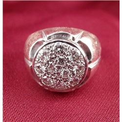 14 Carat Gold 11 Diamond Men's Cluster Ring